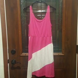 SO Pink and Gray Tank Top Dress